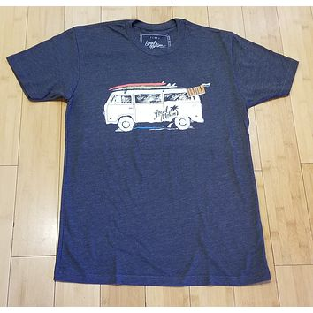 """Local Motion """"V Double You"""" Mens Charcoal T-Shirt"""