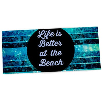 "Ebi Emporium ""Life is Better at the Beach"" Blue Aqua Desk Mat"