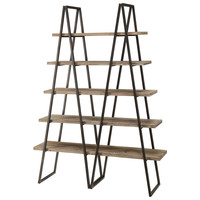 Crestview Collection S Ashland Weathered Oak Bookshelf