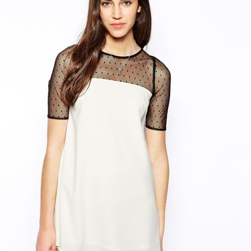 Jarlo Misty Swing Dress with Mesh Sleeves