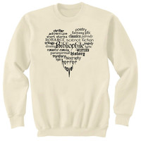 Bibliophile Book Lover Bookworm Art Sweatshirt Ultra Cotton Small - 2XL