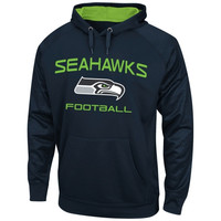 Seattle Seahawks Majestic Gridiron VI Synthetic Pullover Hoodie – College Navy