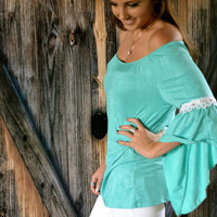 Touch of Lace Chiffon Top