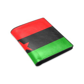 RBG Flag w/ Red Star Unisex Leather Wallet