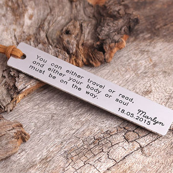 Personalized Bookmark - Gift for Reader - Handmade Bookmark - Handmade Book Lovers Gift