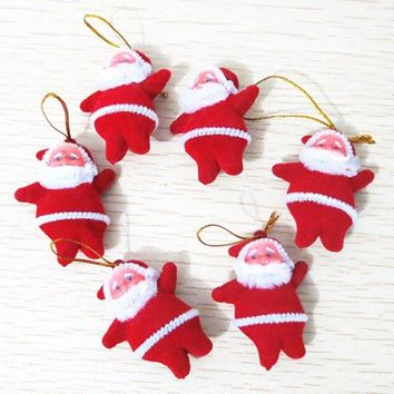 6PCS Party Supplies Christmas Santa Hanging Decoration