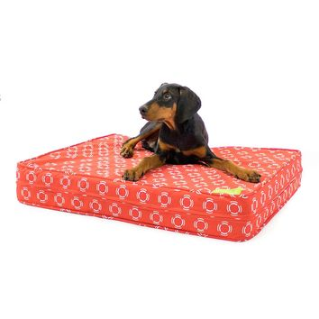 Red Modern Gel Memory Foam Orthopedic Dog Bed