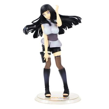 Naruto Sasauke ninja 20cm New Hot Toy  Shippuden  Gals Ver.2 Hyuuga Hinata Painted Figurines Figure Toy Model Collection Doll Girls Gift AT_81_8