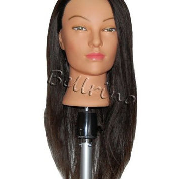 "Bellrino 24 "" Cosmetology Mannequin Manikin Training Head with Human Hair - Lindsey"