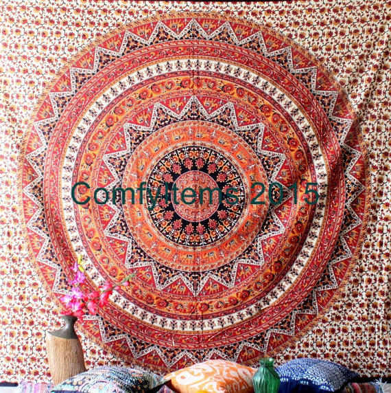 Star elephant Tapestry Wall Hanging Star from ComfyItems on Etsy