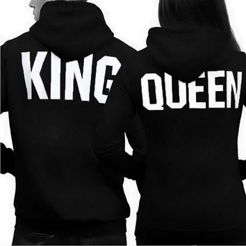 Husband Wife dating relationship lovers Dad Mom King Queen Bae Hubby Wifey Couples Hoodie Hooded Sweatshirt SQ12017 tqi