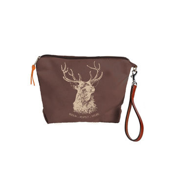 Burghley Pouch with Stag Design