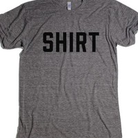 Shirt-Unisex Athletic Grey T-Shirt