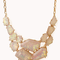 Eclectic Natural Stone Bib Necklace