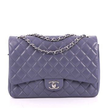 Chanel Pre-Owned: Classic Double Flap Bag Quilted Lambskin Maxi | Bluefly.Com