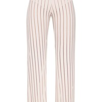 Stone Mesh Stripe High Waisted Wide Leg Trousers