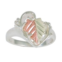 Black Hills Gold Sterling Silver Leaf Ring