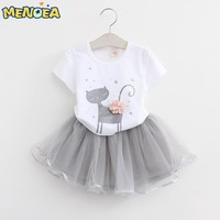 Menoea Girls Dress Cartoon Printed Dress