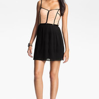 As U Wish Lace & Tulle Corset Dress (Juniors)   Nordstrom