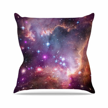 "Suzanne Carter ""Cosmic Cloud"" Celestial Purple Outdoor Throw Pillow"