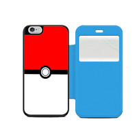 Pokemon Pokeball Wallet Flip Case iPhone 4 5 6 Samsung Galaxy S3 4 5 Note 3 4