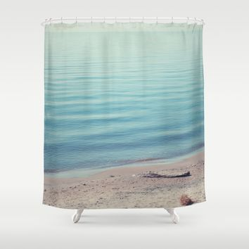 The Calm Shower Curtain by Faded  Photos