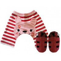 Lucy Lamb Shorts & Red Sandal Set - Gifts