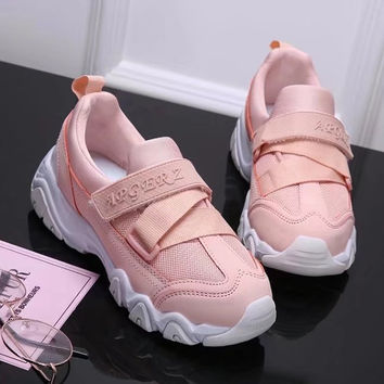 Summer Fashion Casual Velcro Sneakers Women Thick Bottom Running Shoes
