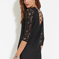 Crochet Crisscross Shift Dress