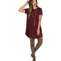 Burgundy Laid Back Tunic