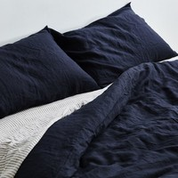 Navy Duvet Cover - 100% Linen Duvet Cover in Navy - IN BED Store