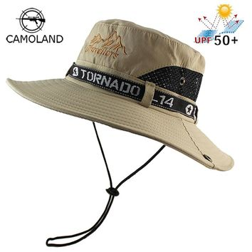 UPF 50+ Sun Hat Bucket Summer Men Women Fishing Boonie Hat Sun UV Protection Long Large Wide Brim Mesh Hiking Outdoor Beach Cap