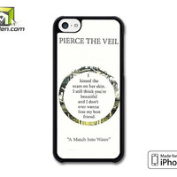 Pierce The Veil Song Lyrics iPhone 5c Case Cover by Avallen