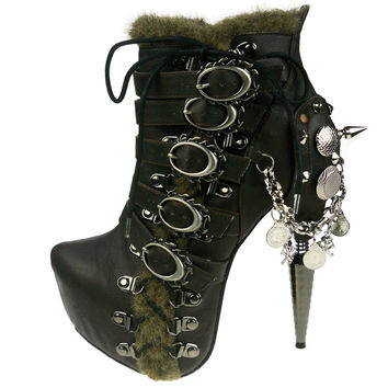 Hades Footwear Alder Lace Up Flame Boots
