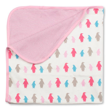 Penguin Receiving Blanket - Organic Cotton