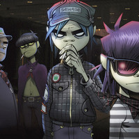 Gorillaz Characters Music Poster