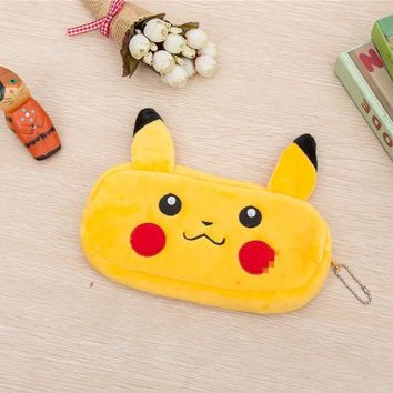 Kawaii NEW 20CM Approx. Pikachu Plush Toy Coin BAG , Plush Toy Coin BAG Purse Pencil bag Keychain Plush Toy