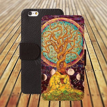 iphone 5 5s case tree case watercolor tree life iphone 4/4s iPhone 6 6 Plus iphone 5C Wallet Case,iPhone 5 Case,Cover,Cases colorful pattern L253