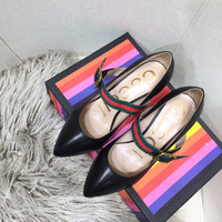 GUCCI Sylvie leather pump