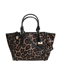 Coach Crosby Carryall Satchel In Leopard Haircalf Leather