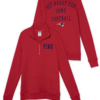 New England Patriots Half-Zip Pullover - PINK - Victoria's Secret