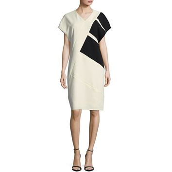 Diagonal Colorblock Dress