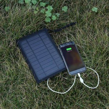 ICIK7N3 Portable 6W 5V 1A 180*360mm Solar Folding Bag Solar Charger For Outdoor Camping Hiking Travelling Black In Stock Well Sell