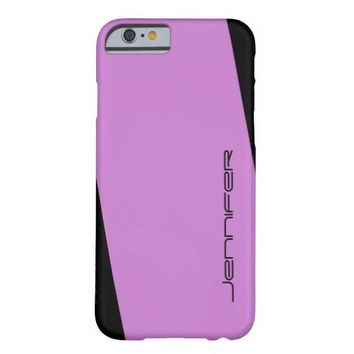 iPhone 6 Case Light Purple and Black One Stripe