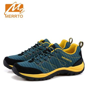 MERRTO Man's Outdoor Hiking Climbing Shoes  Breathable Tactical Boot damping anti-skid Sneaker camping wear-resistant Sport Shoe