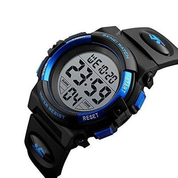 Kids LED Digital Unusual Electrical Luminescent Silicone Outdoor Sport Waterproof Alarm Children Dress Wrist Watch with Stopwatch for Boys Girls