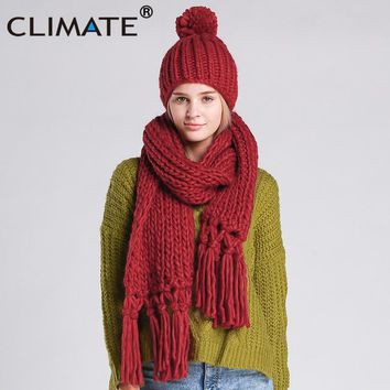 Knitted Ladies Scarf and Hat Set