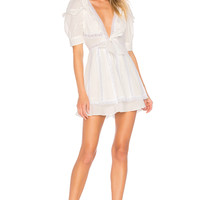 For Love & Lemons x REVOLVE Pintuck Dress in White