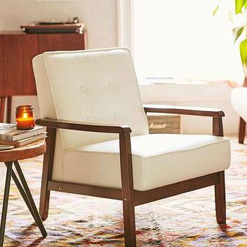 Campbell Vegan Leather Arm Chair