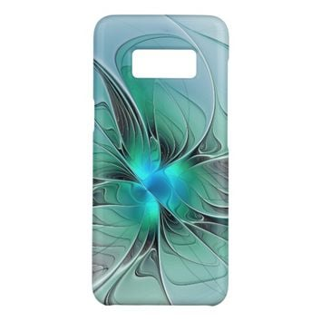 Abstract With Blue, Modern Fractal Art Case-Mate Samsung Galaxy S8 Case